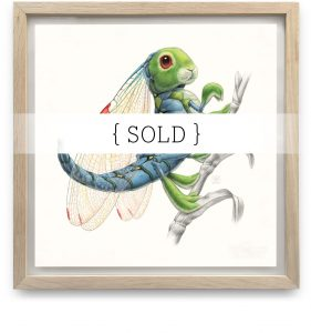 Framed_Original_Libellula_SOLD