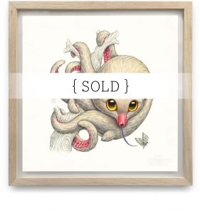 Framed_Original_Octopossum_SOLD